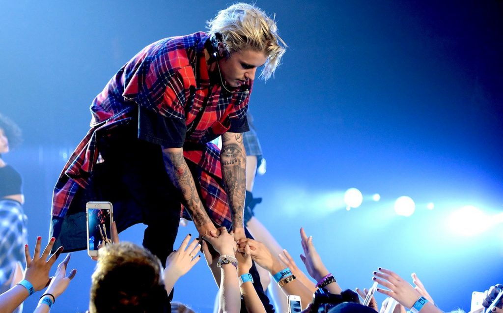Concert with Justin Bieber