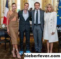 Kontroversi Justin Bieber dan Hailey Baldwin Bertemu Presiden Emmanuel Macron
